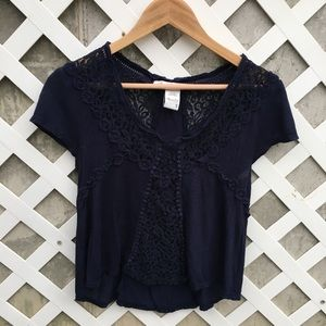 Lace Detailed Crop Top
